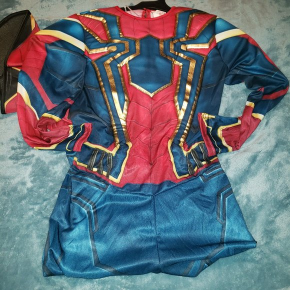 Spider-Man Costume Muscle Jumpsuit/Mask